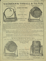 Advert for Vaughan's Thrall & Tilter barrel holder